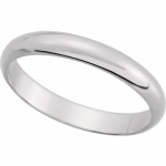 3mm Solid Platinum Wedding Band Ring - Product Image