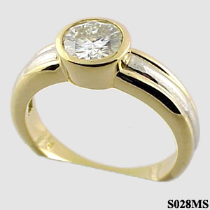 Stuller 2-tone Bezel Moissanite Ring - Product Image