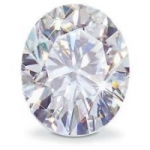 Oval Cut Loose Charles & Colvard Moissanite Stone - Product Image