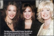 The Bold and the Beautiful's Hunter Tylo (left) ran into pal Marie Osmond at the California ball and was really thrilled to meet Connie Stevens
