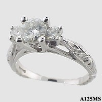 Antique 3 Stone Ring - Product Image