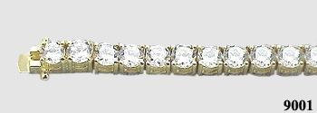 Solid 14k Gold 2.5 Carat Moissanite Tennis Bracelet - Product Image