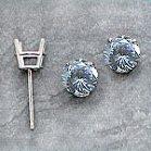 Platinum Charles & Colvard Moissanite Stud Basket Earrings - Product Image
