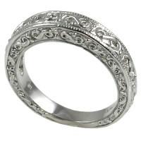 14k Gold Antique Fancy Wedding Band Ring - Product Image