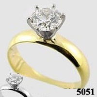 Platinum Tiffany Solitaire Engagement Wide Band Ring - Product Image