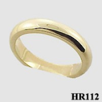 14k Solid Gold 4mm Ladies or Men's Wedding Band / Ring (heavy) - Product Image