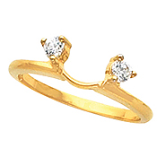 14k Solitaire Round Brilliant Moissanite Engagement Ring Wrap - Product Image
