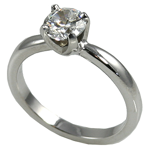 14k Gold Solstice Moissanite Solitaire Engagement Ring - Product Image
