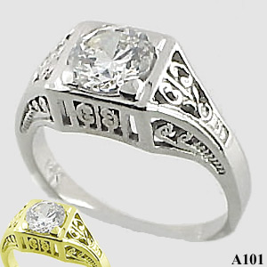Sterling Silver 1 carat Moissanite Antique/Deco style ring - Product Image