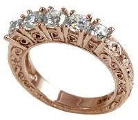 14k Rose Gold AntiqueFancy Wedding/Anniversary Band Ring - Product Image