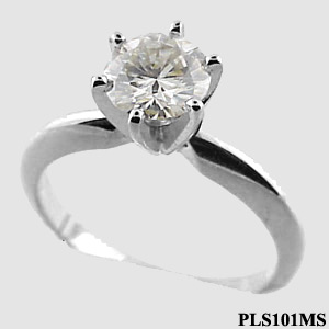 Platinum Tiffany Style Solitaire Ring - Product Image