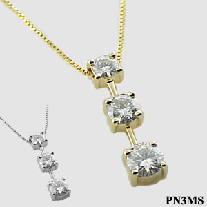 3 stone dangle pendant - Product Image