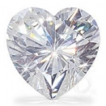 Heart Cut Loose Moissanite Stone - Product Image