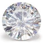 Round Loose Charles & Colvard Moissanite Stone Gem Jewel - Product Image